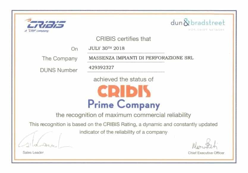 Cribis_Certificate
